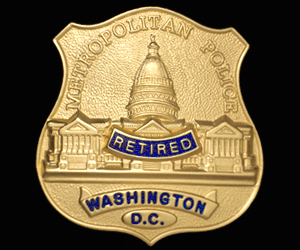 DC Washington RETIRED Badge